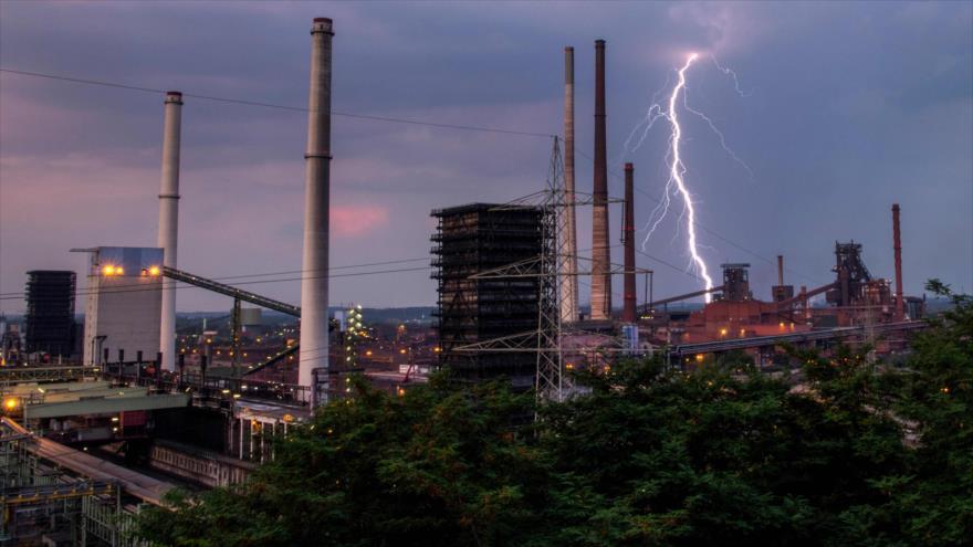 El conglomerado alemán ThyssenKrupp en la ciudad de Duisburg, en el oeste de Alemania, 27 de agosto de 2019. (Foto: AFP)