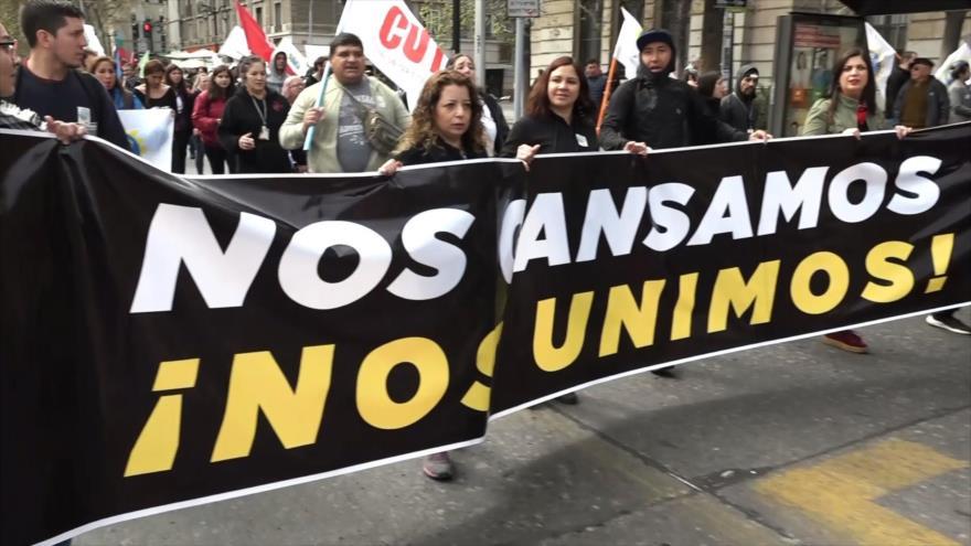 No consigue detener protesta nacional en Chile