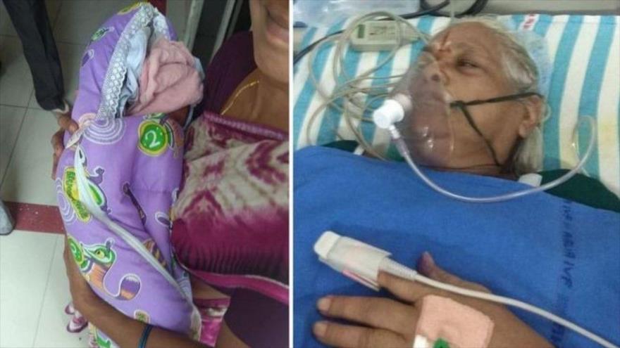 Una mujer de 73 años da a luz a gemelas en La India.