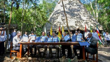 Siete países amazónicos pactan una agenda contra crisis ambiental