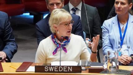 Renuncia canciller sueca Wallstrom, crítica a crímenes de Israel