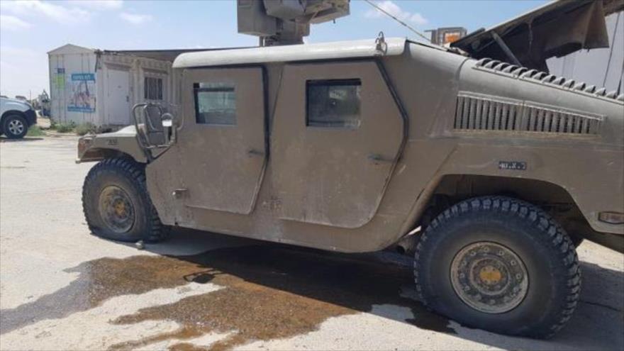Dron palestino ataca a un vehículo militar israelí en Gaza