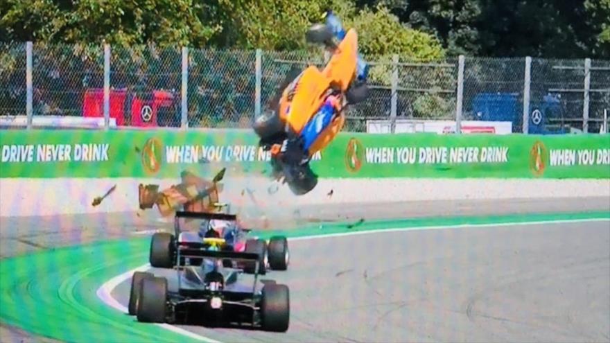 Vídeo: Piloto de Fórmula 3 protagoniza un horripilante accidente
