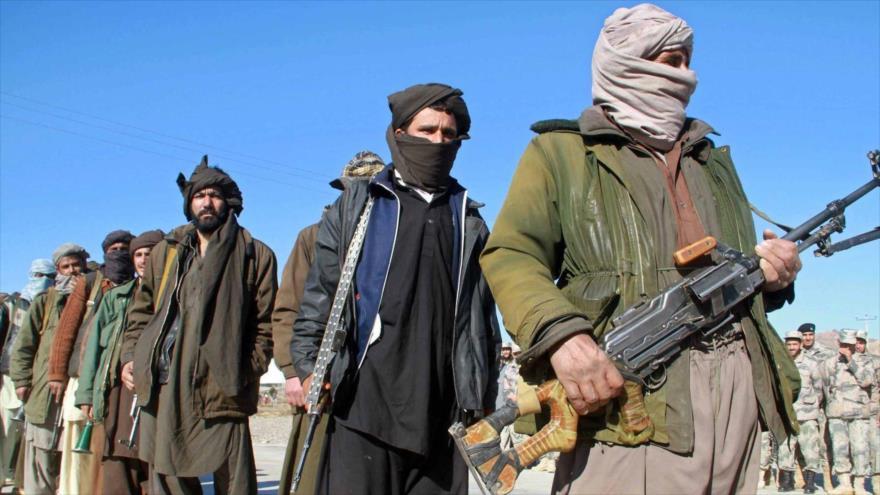 Miembros del grupo armado Talibán en la provincia de Herat (oeste de Afganistán).