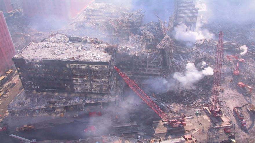 Labores de limpieza tras el colapso de las Torres Gemelas de Nueva York, 11 de septiembre de 2001. (Foto: RT)