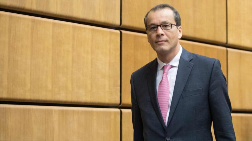 El director general interino de la AIEA, Cornel Feruta, en una reunión del organismo en Viena (capital austriaca), 1 de agosto de 2019. (Foto: AFP)