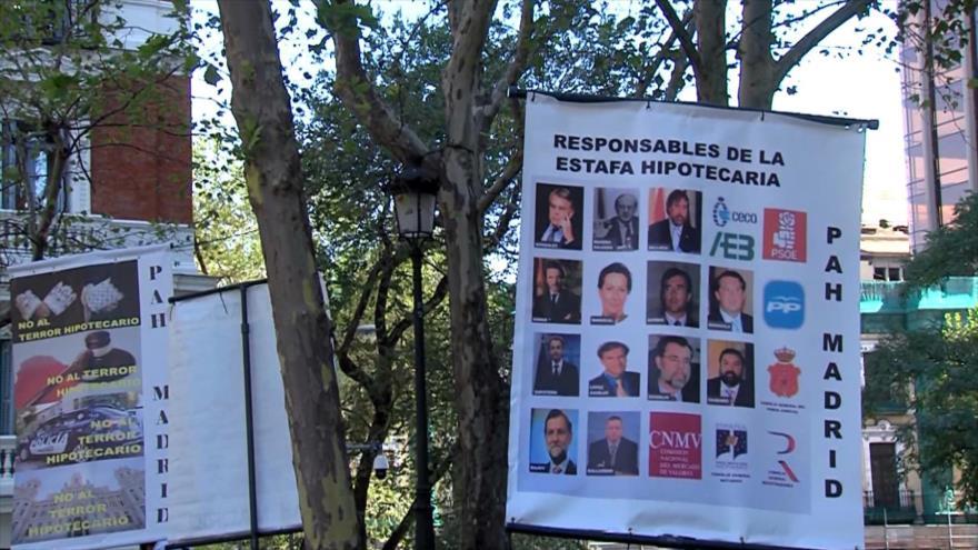 Afectados por hipotecas denuncian corrupción de justicia española