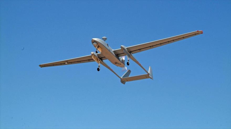 Un dron israelí, modelo IAI Heron.