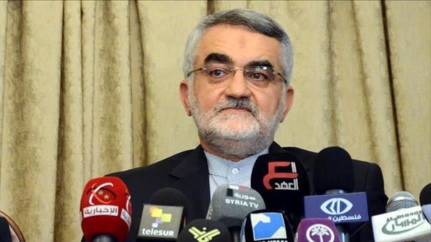 Alaeddin Boruyerdi, miembro de la Comisión de Seguridad Nacional y Política Exterior del Parlamento de Irán (Mayles).