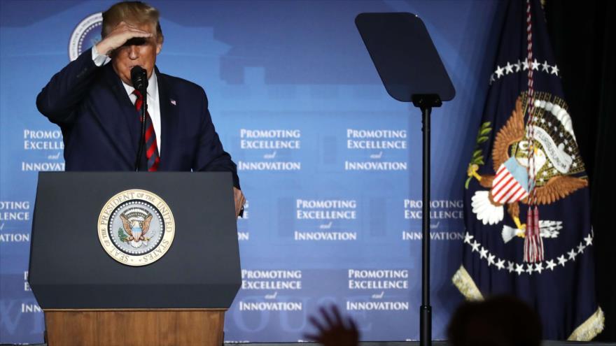 El presidente de EE.UU., Donald Trump, en un acto en el Hotel Renaissance en Washington D.C., 10 de septiembre de 2019. (Foto: AFP)