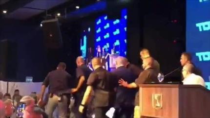 Netanyahu huye de un evento electoral por temor a cohetes de HAMAS