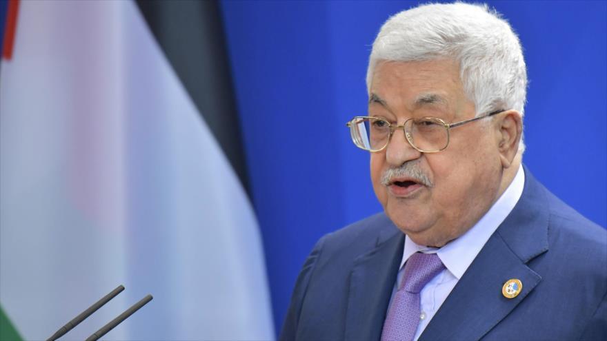 El presidente palestino, Mahmud Abás, ofrece un discurso en Berlín (Alemania), 29 de agosto de 2019. (Foto: AFP)