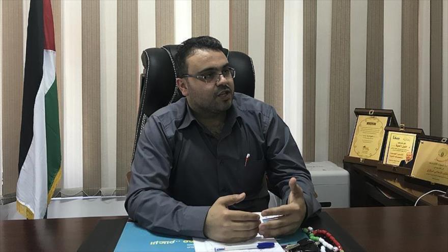 El portavoz del Movimiento de Resistencia Islámica de Palestina (HAMAS) Hazem Qasem.