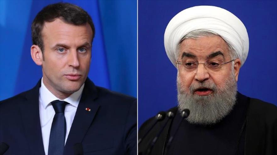 Rohani asegura a Macron: No habrá diálogos con EEUU bajo sanciones
