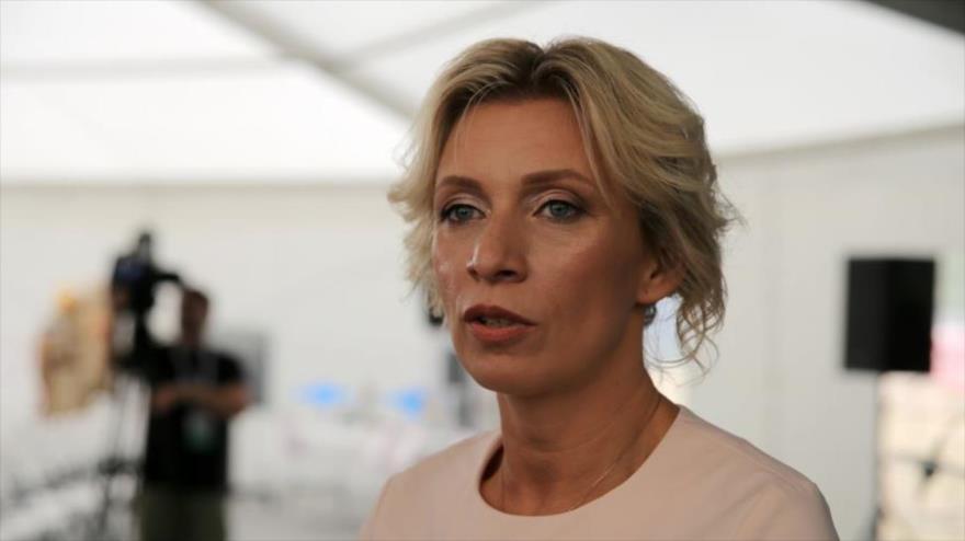 La portavoz de la Cancillería rusa, María Zajárova.