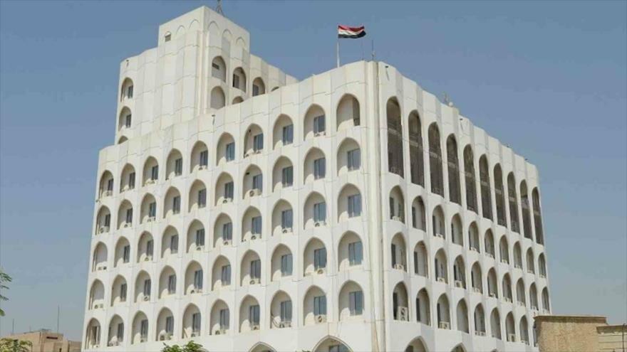 El edificio del Ministerio de Exteriores de Irak en Bagdad, la capital.