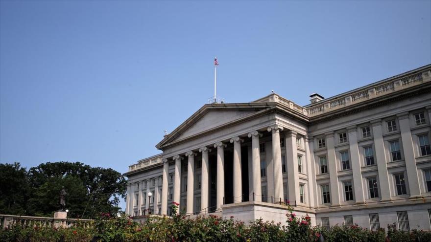 La sede del Departamento del Tesoro de Estados Unidos en Washington, capital.