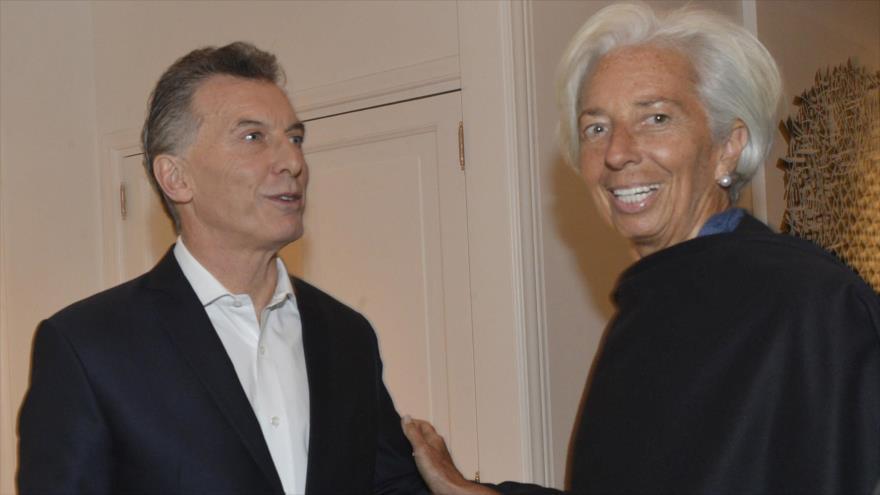 El presidente de Argentina Mauricio Macri, y Christine Lagarde, directora gerente del Fondo Monetario Internacional (FMI), en Buenos Aires, 20 de julio de 2018.
