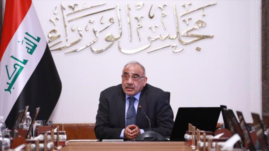 El primer ministro iraquí, Adel Abdul-Mahdi, en una reunión de su Gabinete en Bagdad, 22 de agosto de 2019. (Foto: pmo.iq)