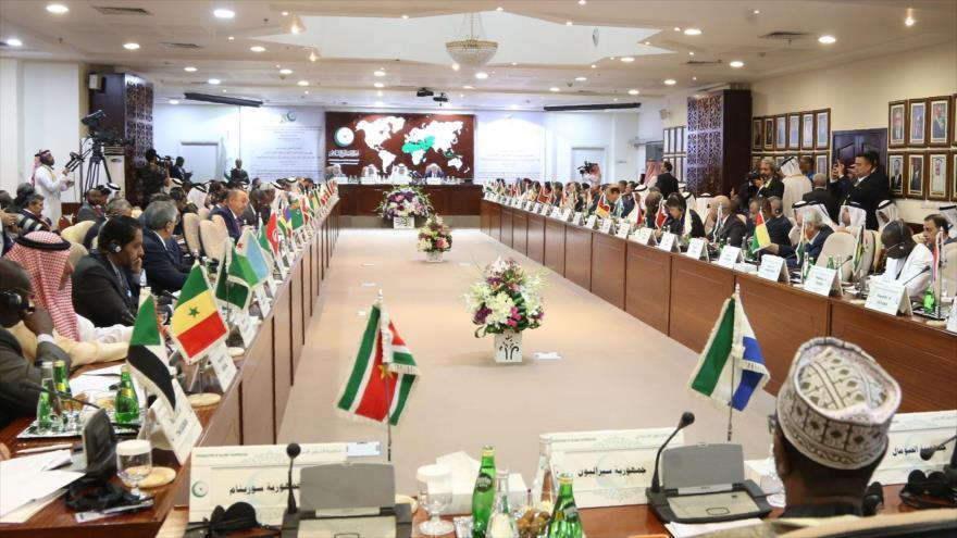 Una reunión de los ministros de Exteriores de la Organización para la Cooperación Islámica (OCI) en Riad, 15 de septiembre de 2019. (Foto: AFP)