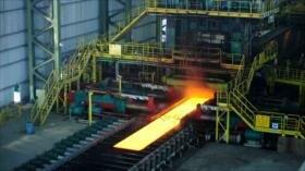Crecen un 37 % exportaciones de acero iraní pese a bloqueo de EEUU