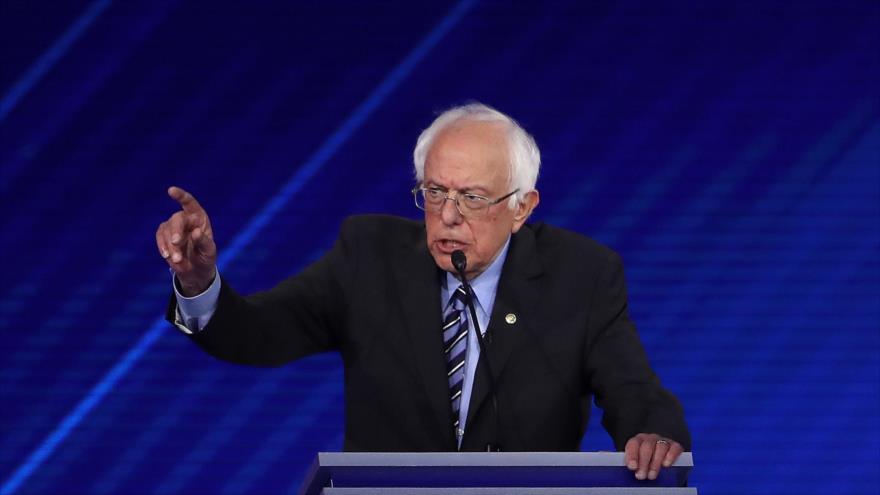 El senador estadounidense Bernie Sanders durante un debate presidencial en Houston, Texas, 12 de septiembre de 2019. (Foto: AFP)