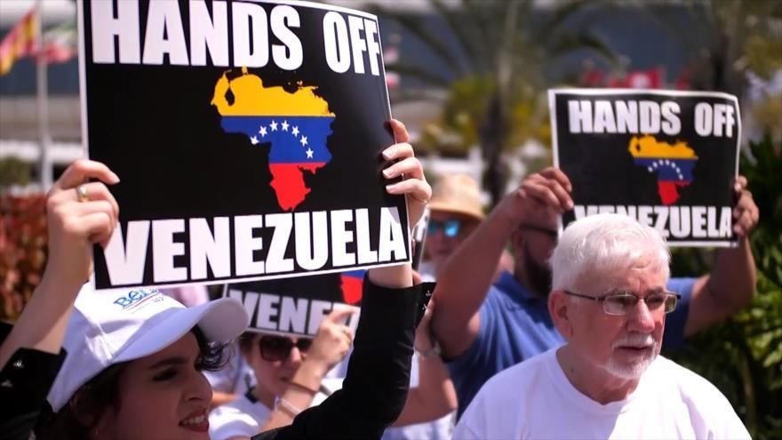 Activistas apoyan a Venezuela ante la trama de injerencia de EEUU   HISPANTV