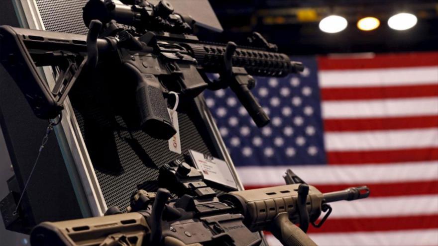 Una exhibición de armas en Estados Unidos.