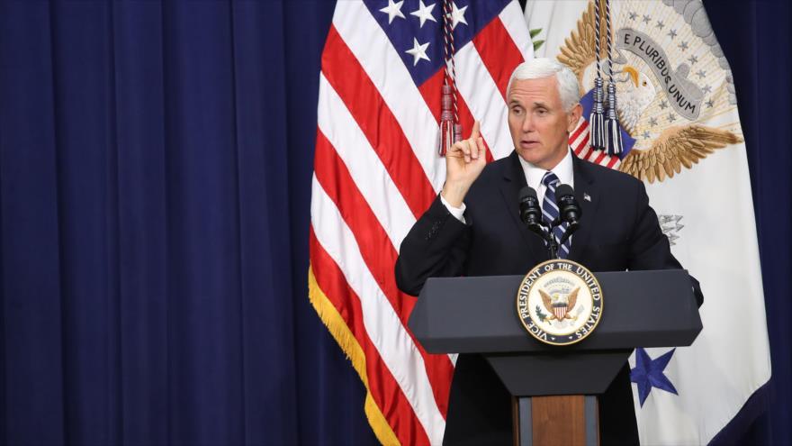 El vicepresidente estadounidense, Mike Pence, durante una ceremonia en Washington D.C., 17 de septiembre de 2019. (Foto: AFP)
