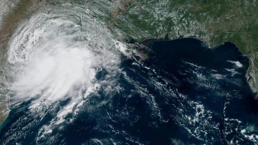 El Golfo de México, donde se forma la tormenta tropical Imelda.