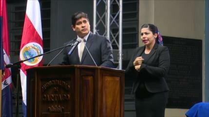 Descontento con el Gobierno crece en Costa Rica