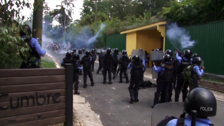 La Policía de Honduras agredió de nuevo al equipo de HispanTV
