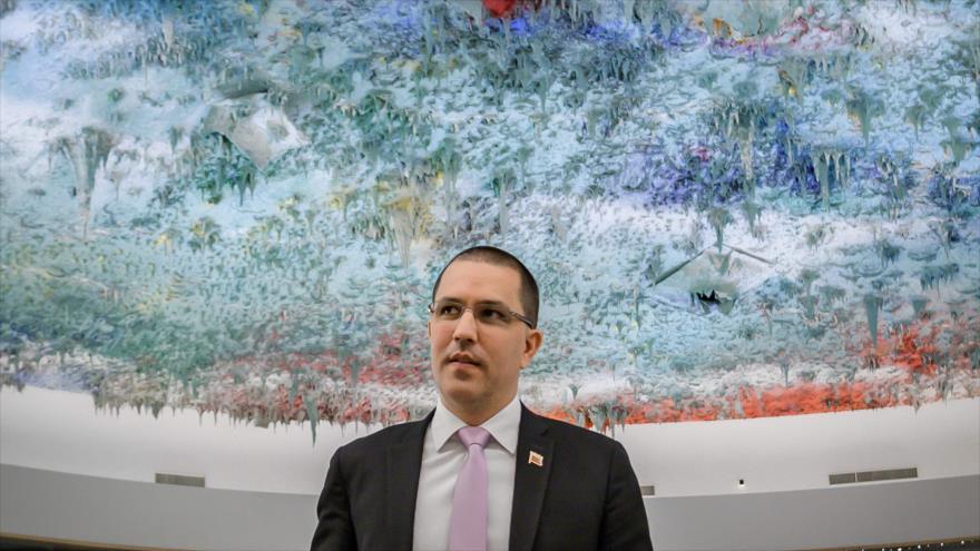 El canciller venezolano, Jorge Arreaza, en Ginebra, Suiza, 12 de septiembre de 2019. (Foto: AFP)