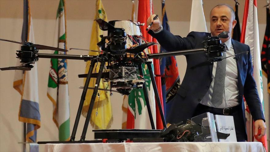 Vídeo: El Líbano exhibe drones israelíes caídos en Beirut