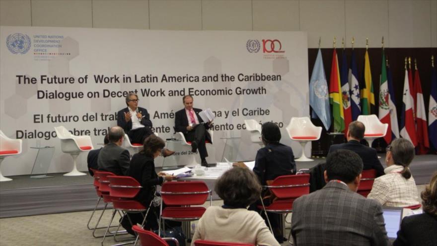 Christian Salazar, director regional de Oficina de Coordinación para el Desarrollo de la ONU (UNDCO), habla desde Lima, 17 de agosto de 2019.