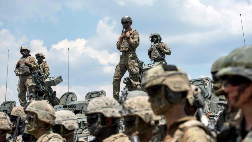 Soldados estadounidenses participan en unas maniobras militares en Macedonia, 17 de junio de 2019. (Foto: AFP)