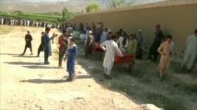 Celebran funeral de víctimas del ataque con drones en Afganistán