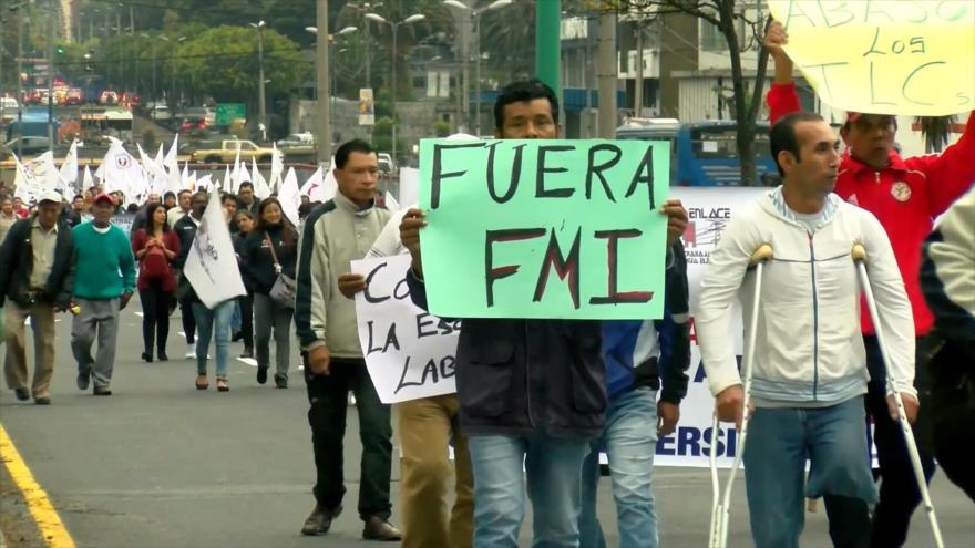 Trabajadores de Ecuador piden referéndum para sacar al FMI | HISPANTV