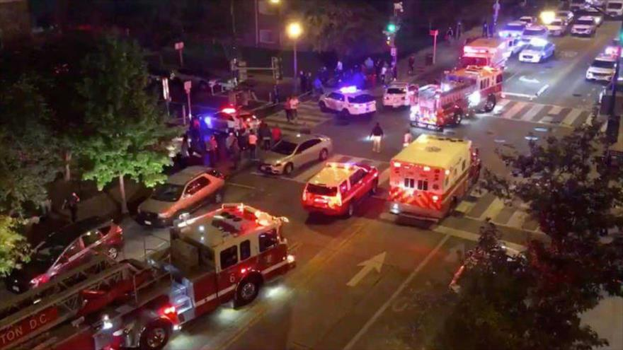 Al menos un muerto y 8 heridos en dos tiroteos en Washington DC