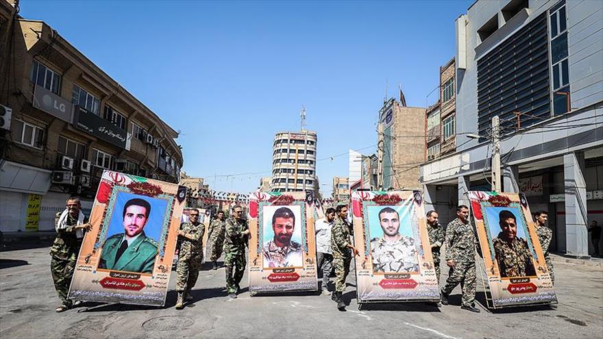 Imágenes de víctimas del ataque terrorista en Ahvaz, suroeste de Irán, 20 de septiembre de 2019. (Foto: Iqna)