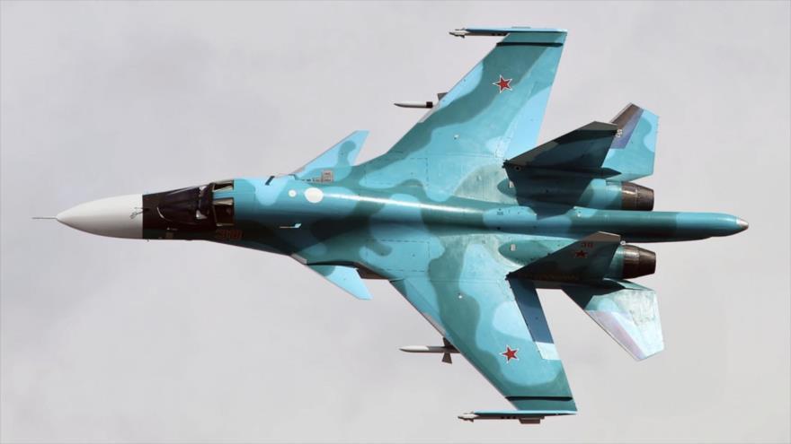 Un avión Su-34 de fabricación rusa.