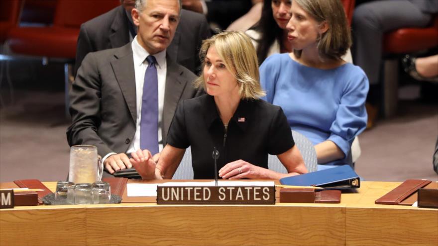 Kelly Craft, nueva embajadora de EE.UU. ante la ONU, en una sesión del Consejo de Seguridad, Nueva York, 12 de septiembre de 2019. (Foto: AFP)