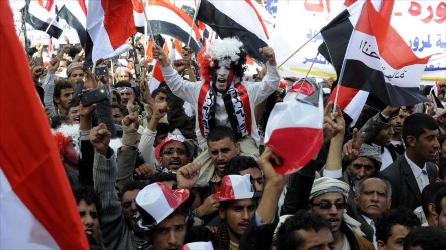 Yemeníes conmemoran quinto aniversario de su revolución