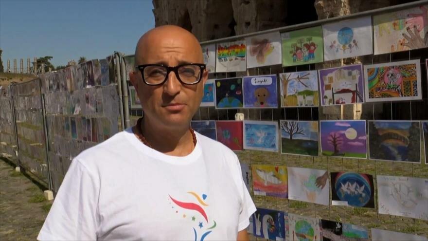 Niños de 126 países exponen sus dibujos por la paz