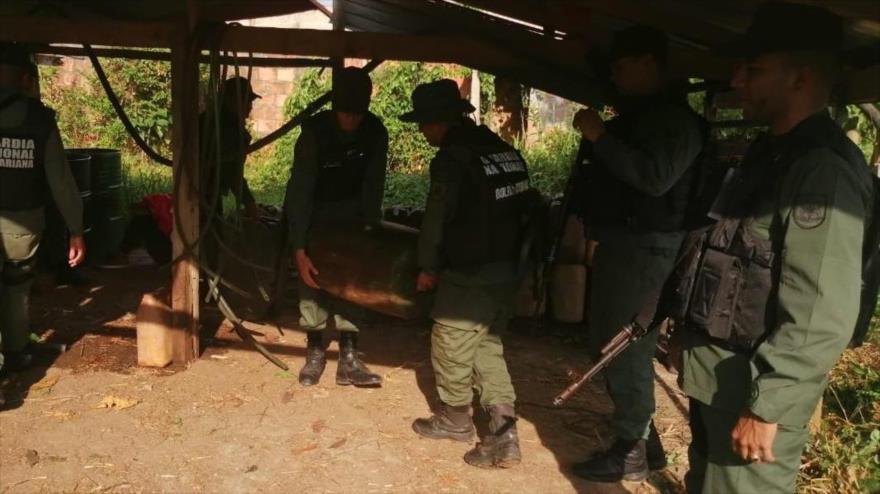Efectivos de la FANB desmantelan una base clandestina de la banda criminal Los Rastrojos, Táchira, 21 de septiembre de 2019.