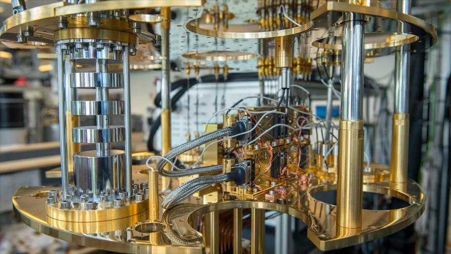 Una computadora cuántica de Microsoft.
