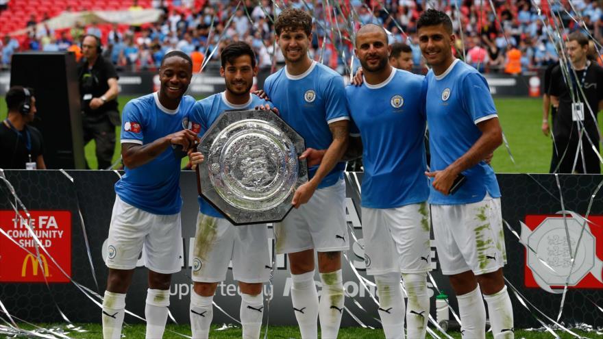 Manchester City se queda con la Community Shield 2019 tras ganar la final frente al Liverpool, 4 de agosto de 2019. (Foto: AFP)
