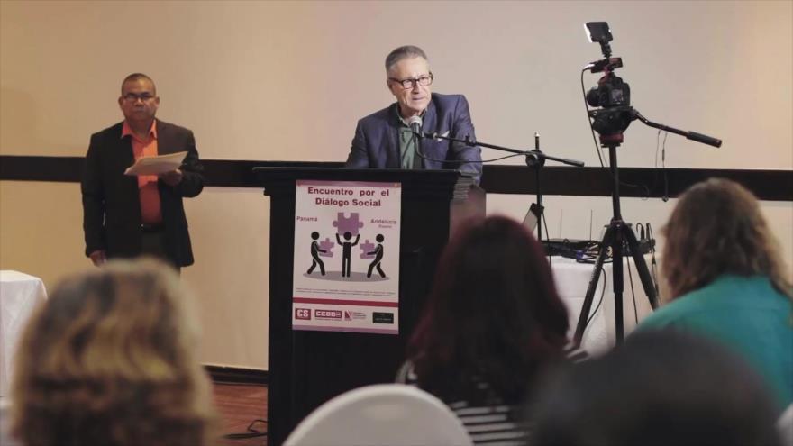 Encuentro de trabajadores por el diálogo social en Panamá