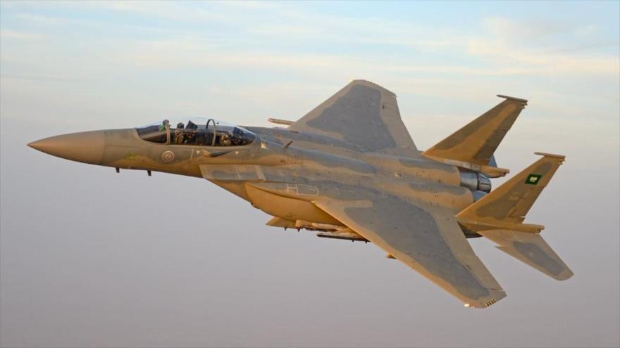 Un caza F-15 de Arabia Saudí.