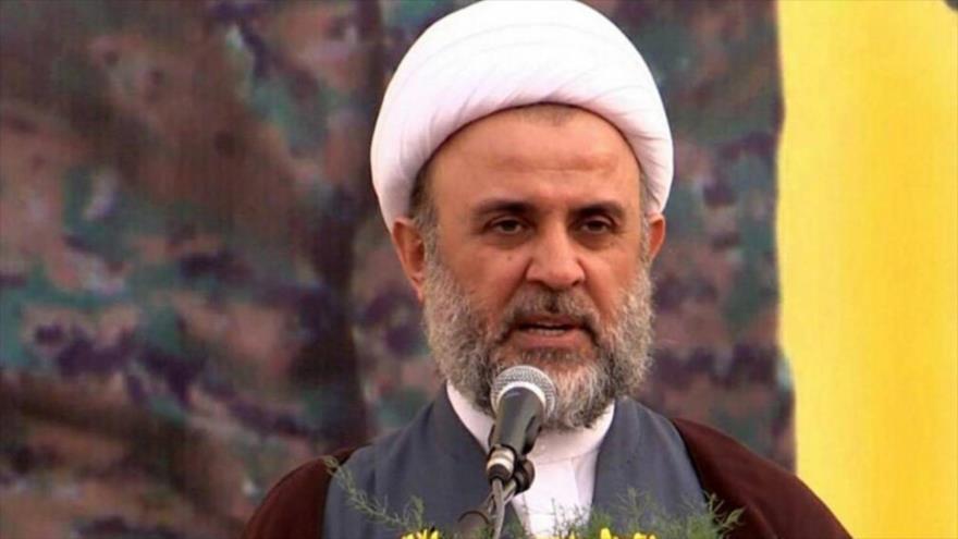 El jefe adjunto del Consejo Ejecutivo del Movimiento de Resistencia Islámica de El Líbano (Hezbolá), el sheij Nabil Qauq.